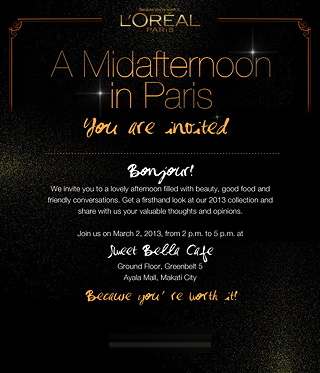L'Oreal Blogger Invite