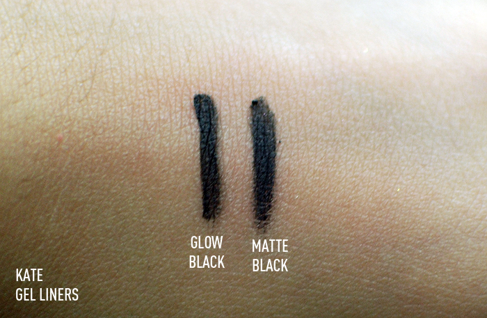 Kate Gel Liners - Swatches