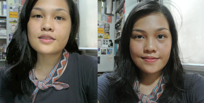 4 product face - before and after
