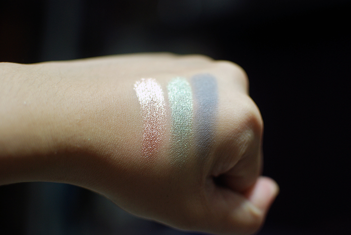 L'Oreal Infallible - Amber Rush, Golden Sage, Sultry Smoke - Swatches