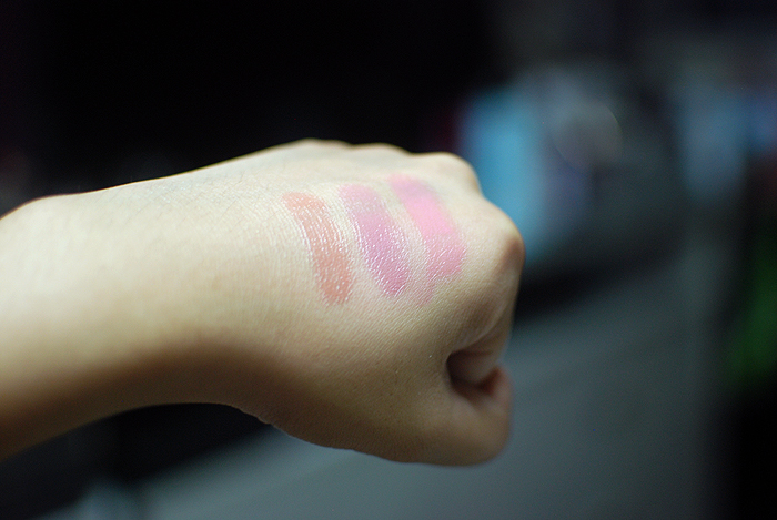Maybelline Color Whispers - Mocha Muse, Lust for Blush, Petal Pusher - Swatches