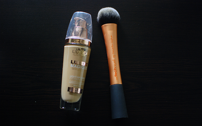 Foundation Routine - L'Oreal Lucent Magique, RealTechniques Expert Face Brush