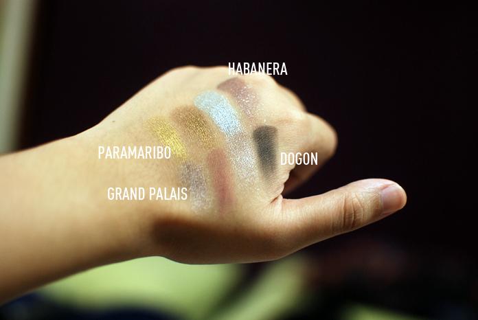 NARS Duos - Habanera, Paramaribo, Dogon, Grand Palais - Swatches