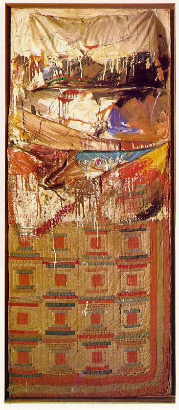 """Bed,"" Robert Rauschenberg. 1955 Source: Brown Bread Mixtape"