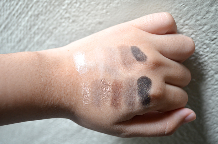UD Naked Basics, NARS And God Created the Woman - Swatches