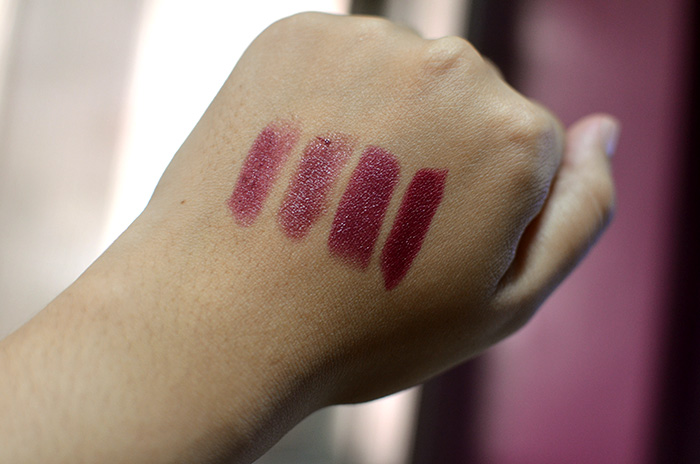 Stylenanda 3CE Lip Color in Vamp - Swatches, Comparison