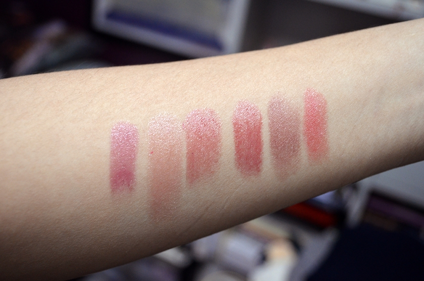 5 Things Friday - Sheer Lipsticks Swatches