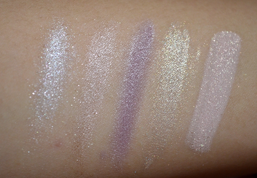 bareMinerals Degrees of Dazzling - Glimmer - Swatches