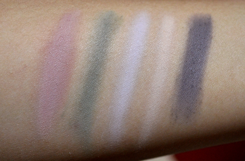 bareMinerals Degrees of Dazzling - Velvet Swatches