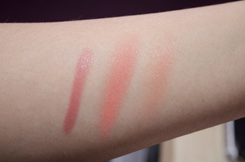NARS Final Cut - Final Cut Blush, Decanso Lip Pencil - Swatches