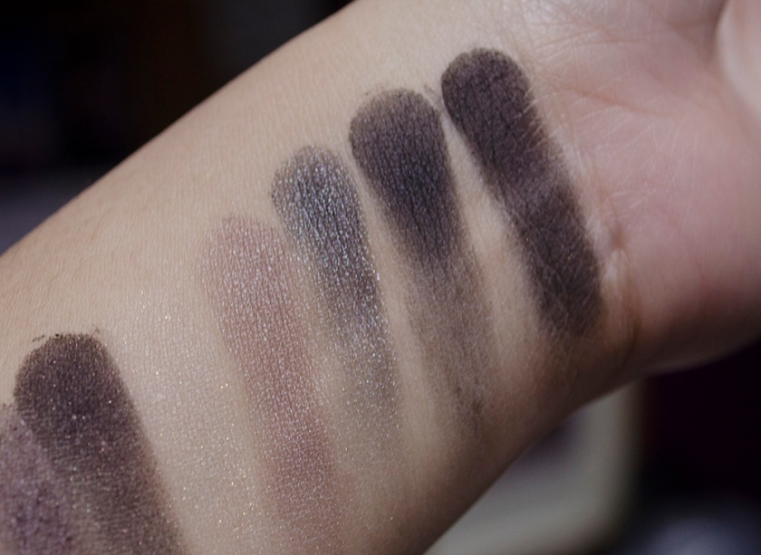NARSissist - Swatches - Row 3 - Bellissima 1, Lhasa, Bad Behaviour, Dogon 2, Pandora 2