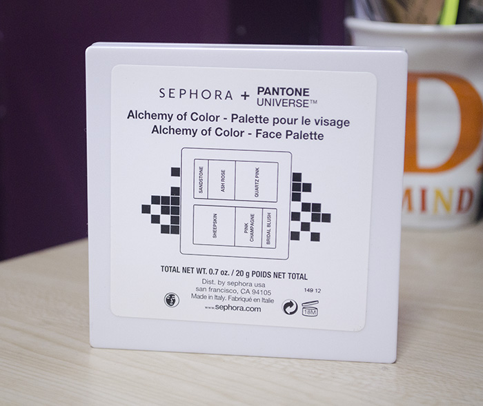 Sephora + Pantone Universe - Alchemy of Color Face Palette - Back Cover
