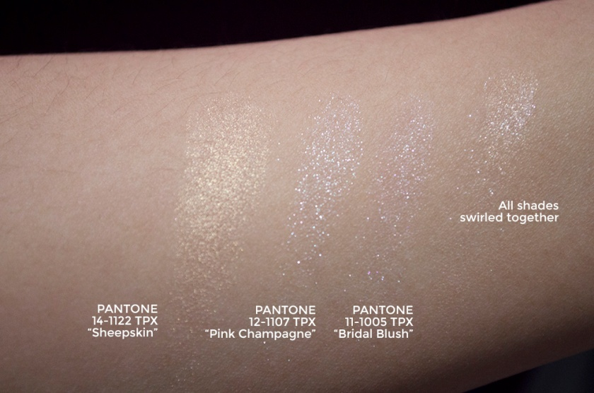 Sephora + Pantone Universe - Alchemy of Color Face Palette - Highlight Swatches