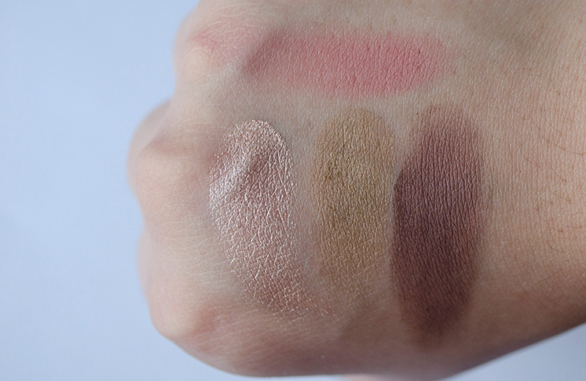 Addiction 2014 - Swatches - Rigoletto, Sand Dune, Truffle, Rose Bar