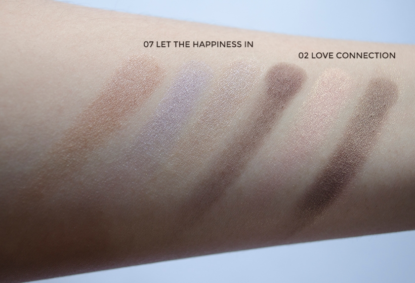 THREE - Eyeshadow Duo - Love Connection, Let the Happiness In - Swatches