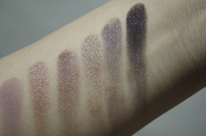 Urban Decay Naked 3 - Swatches - Nooner, Liar, Factory, Mugshot, Darkside, Blackheart