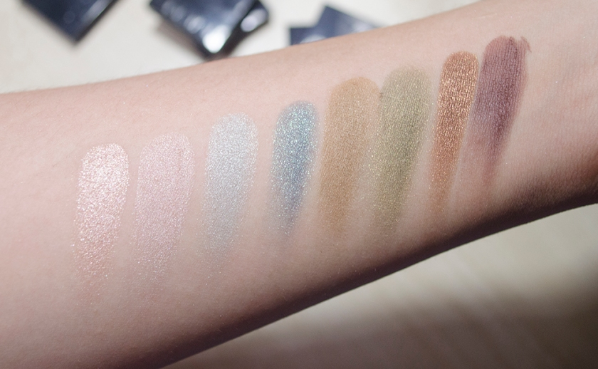 Addiction by Ayako Eye Shadow - Singles - Swatches - Rigoletto, Sandbar, Midnight Drive, Deep Forest, Sand Dune, Safari Mode, Fudge, Truffle
