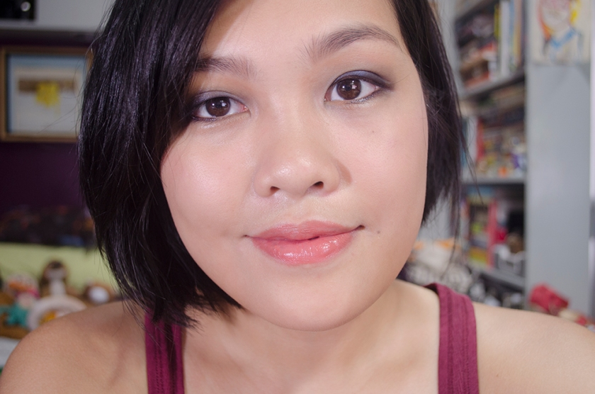 Lazy Girl Makeup - One Shadow Smoky Eye - Face