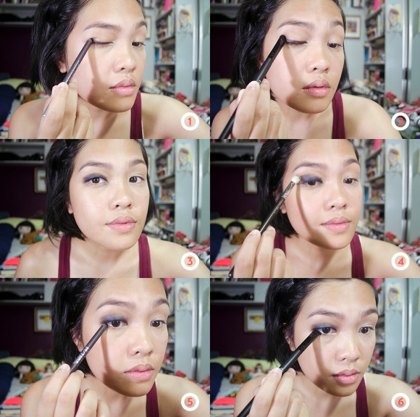 Lazy Girl Makeup - Smokey Eye - Steps