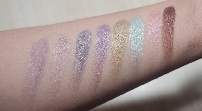 Rouge Bunny Rouge - Eyeshadows - Swatches - Solstice Halcyon, Bohemian Waxwing, Eclipse Eagle, Delicate Hummingbird, Abyssinian Catbird, Periwinkle Cardinal, Tantalizing Lovebird, Bejewelled Skylark
