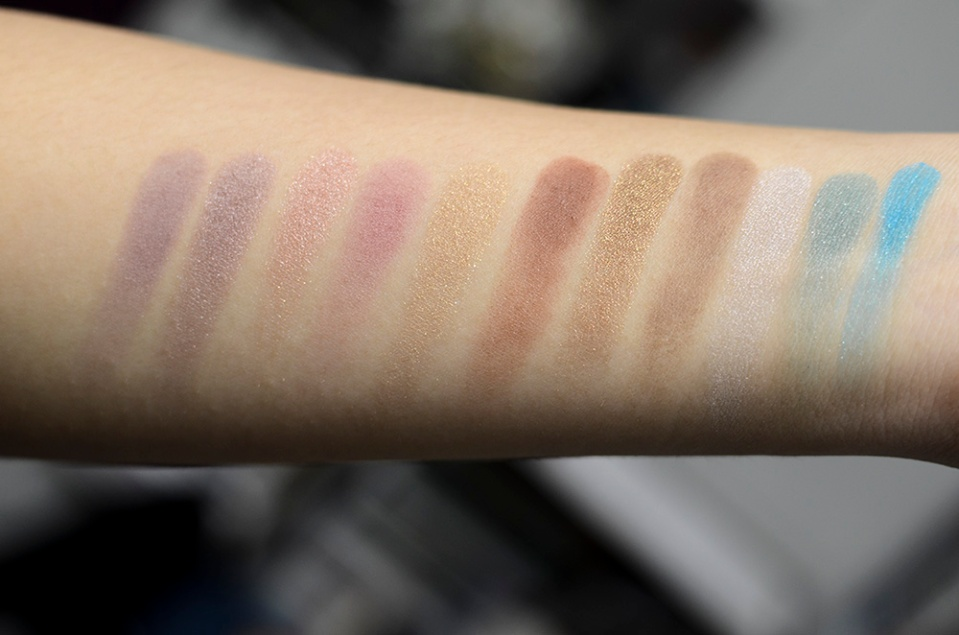 Makeup Geek Eyeshadows - Unexpected, Twilight, Cinderella, Cupcake, Bleached Blonde, Cocoa Bear, Pretentious, Mocha, Rockstar, Sea Mist, Poolside - Swatches
