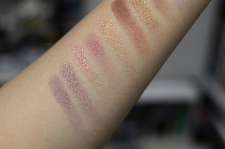 Makeup Geek Eyeshadows - Unexpected, Twilight, Cinderella, Cupcake, Bleached Blonde, Cocoa Bear - Swatches