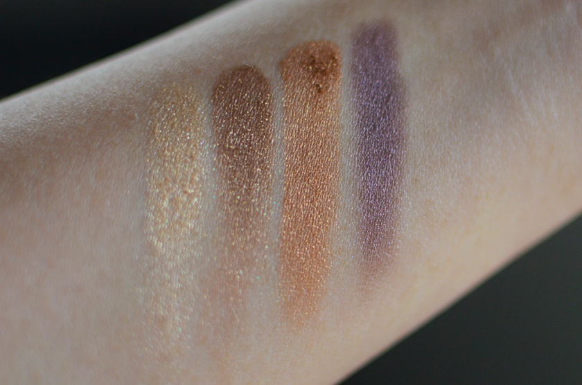 cle de peau - eyeshadow quad - 307 - swatches