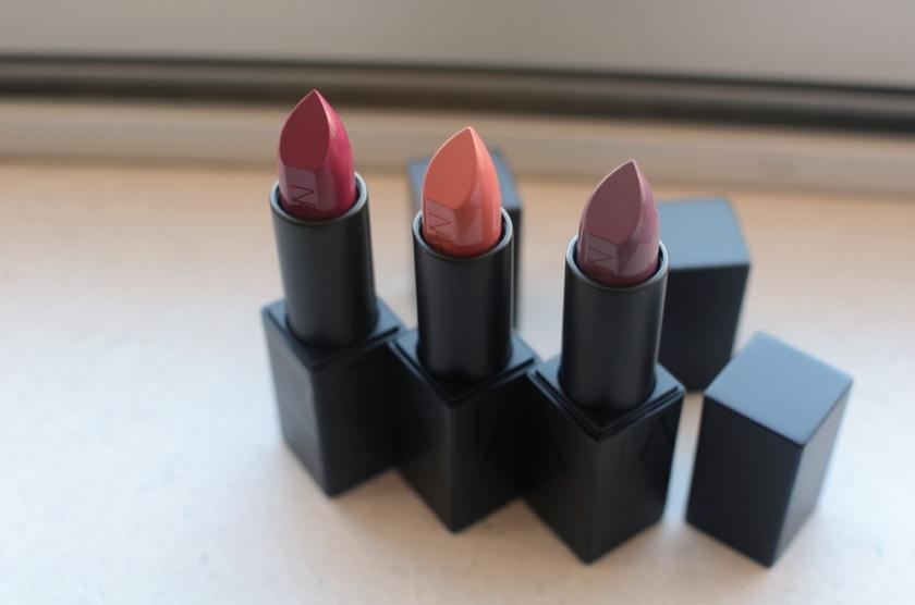 NARS - Audacious Lipsticks - Janet, Dominique, Julie