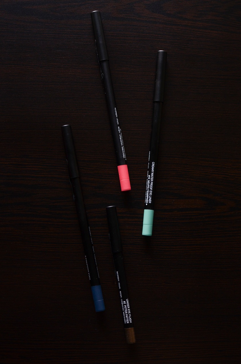 3CE Creamy Waterproof Eyeliner, Undereye Flash Liner - Mojito, Wow Pink, Moulin Rouge, Pitter Patter