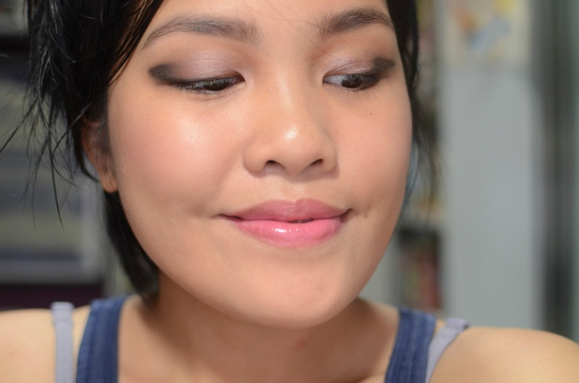 Etude House Play 101 - 55 on Cheeks, 3CE Gel Eye Liner in Glitter Khaki, Lipstick in Sweet Impact, Addiction Tinted Moisturizer - Face