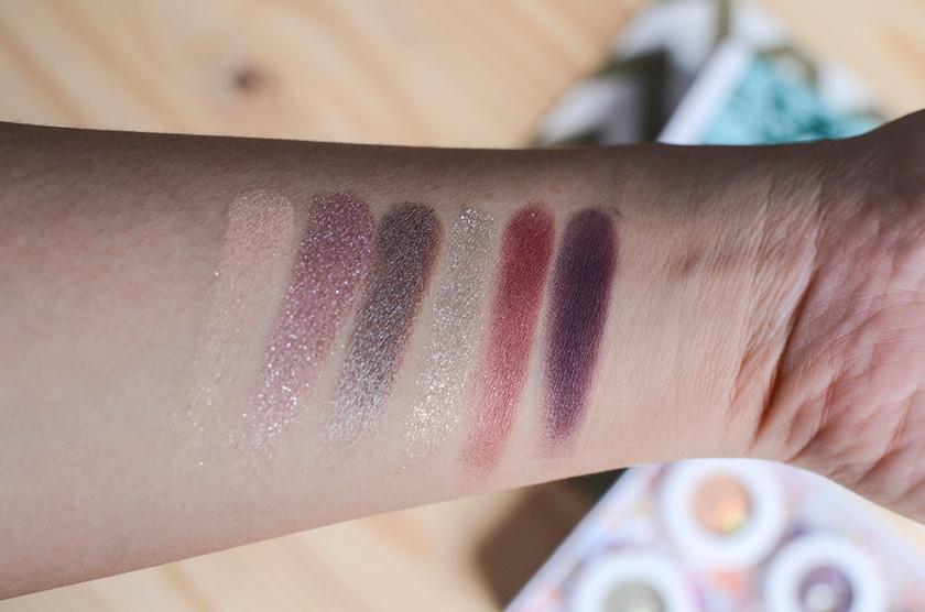 ColourPop SuperShock Eyeshadows - Not a Box of Chocolates - Swatches - Halo, Tinsel, Partridge, Sleigh, Drift - Doe-a-Deer - Swatches