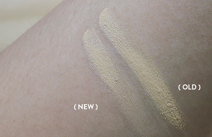 KPalette - Concealer - 02 - New vs Old Swatches