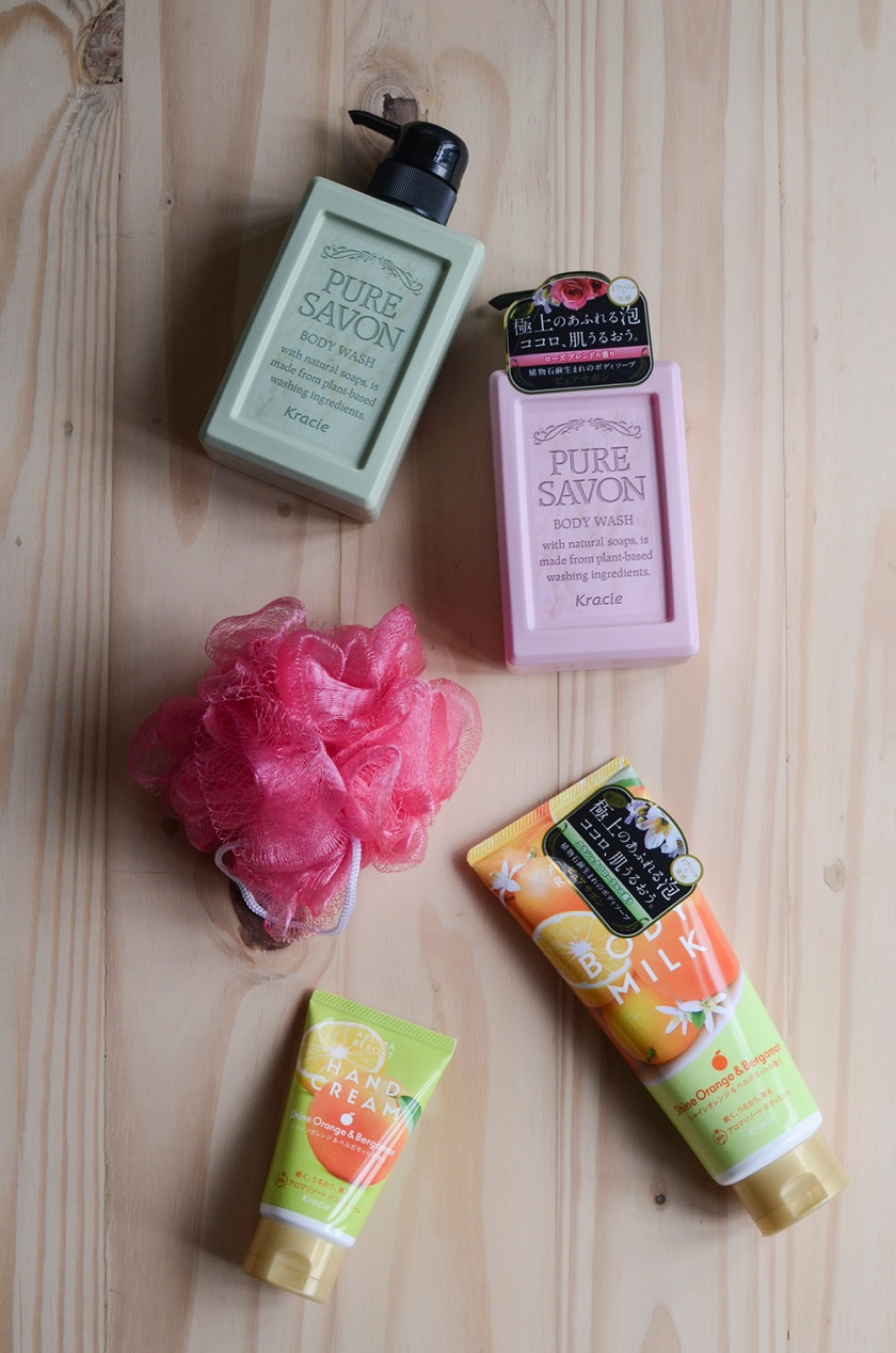 Kracie - Pure Savon Body Wash, Aroma Resort Body Milk and Hand Cream