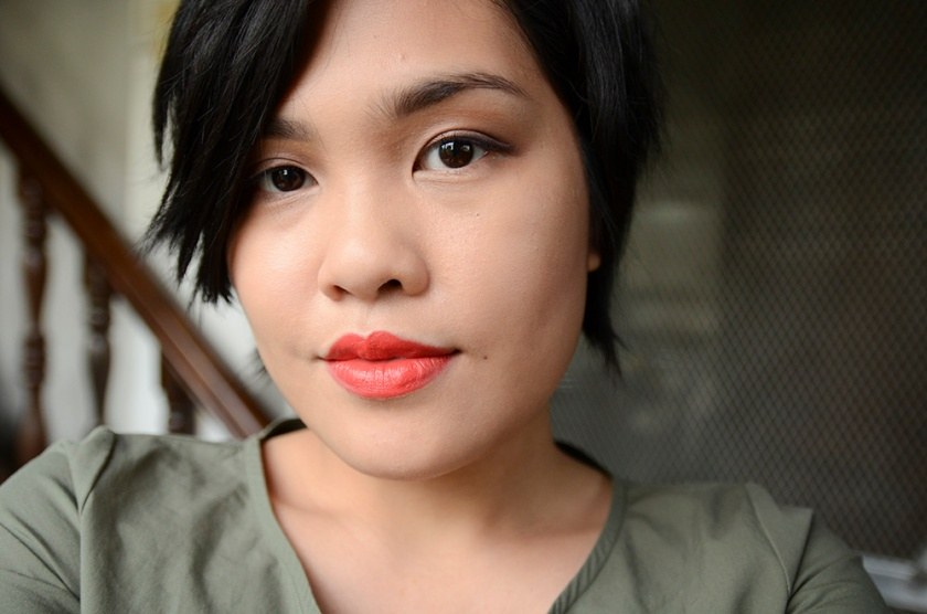 MAKE - Custom Effects in Matte Dew, Silk Lipstick in Scarlet Oak