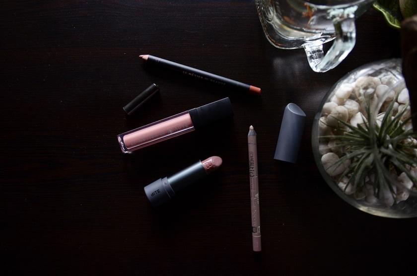 LipCombinations-Le Metier de Beaute Nudite, Rimmel, Bite Beauty Cava