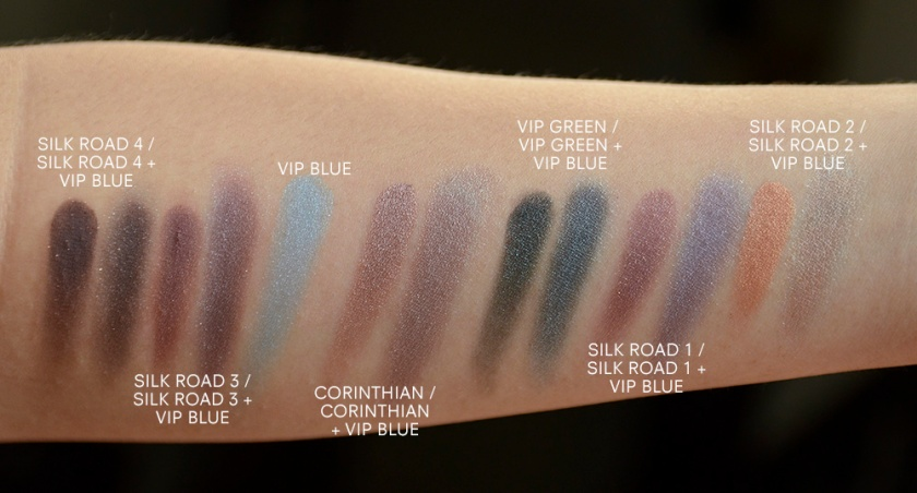 LMdB March Unboxing - 2015 - Swatches with other LMdB Eyeshadows - Corinthian, Silk Road