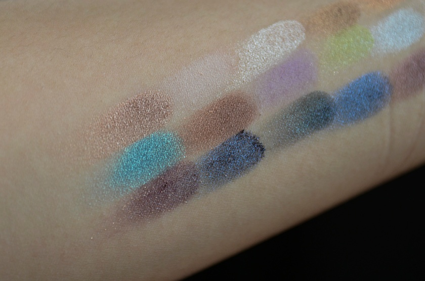 Le Métier de Beauté Beauty Vault VIP May 2015 - Sexy Eye Palette - Swatches - Closeup1