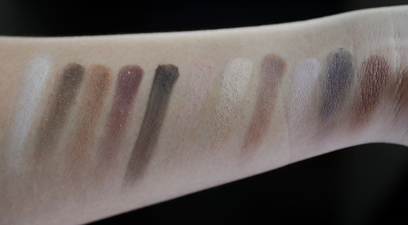 Makeup Revolution - I Heart Makeup Wonder Palette I Heart Chocolate - Swatches, Row 1 and 2 c