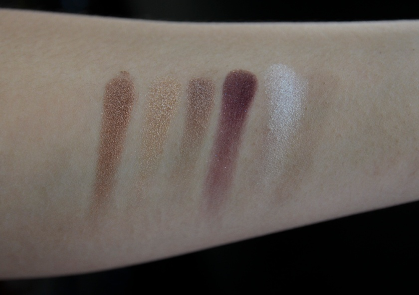 Makeup Revolution - I Heart Makeup Wonder Palette I Heart Chocolate - Swatches, Row 3