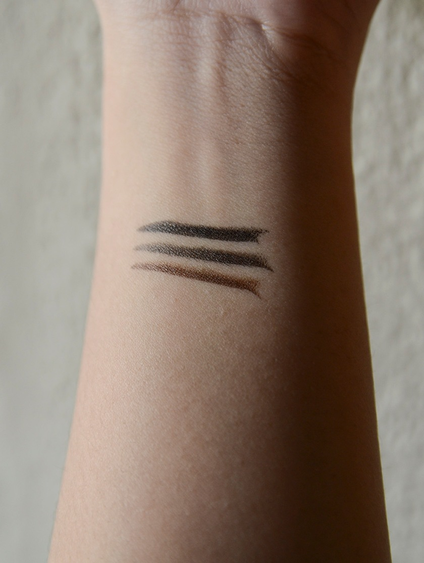 K-Palette - Liquid Liner - Swatches - SB001, BB001, DB001