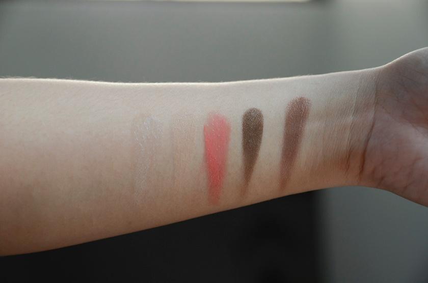 RMS Beauty - Glowing Gift Set Burriti Bronzer - Swatches - Living Luminizer, Uncover Up 22, Smile Lip2Cheek, Seduce Eye Polish, Burriti Bronzer