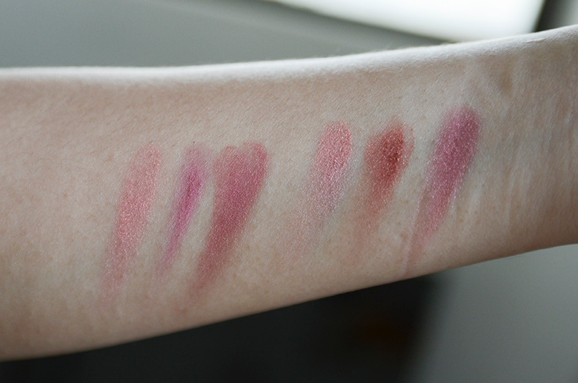 MAC Blush - Peachykeen, Breath of Plum, Breezy, Springsheen, Ambering Rose, Plumfoolery - Swatches